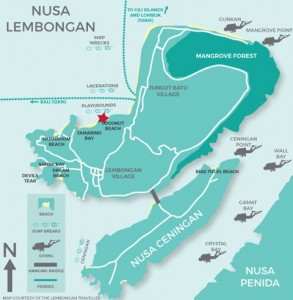 The Lembongan Traveller, Map