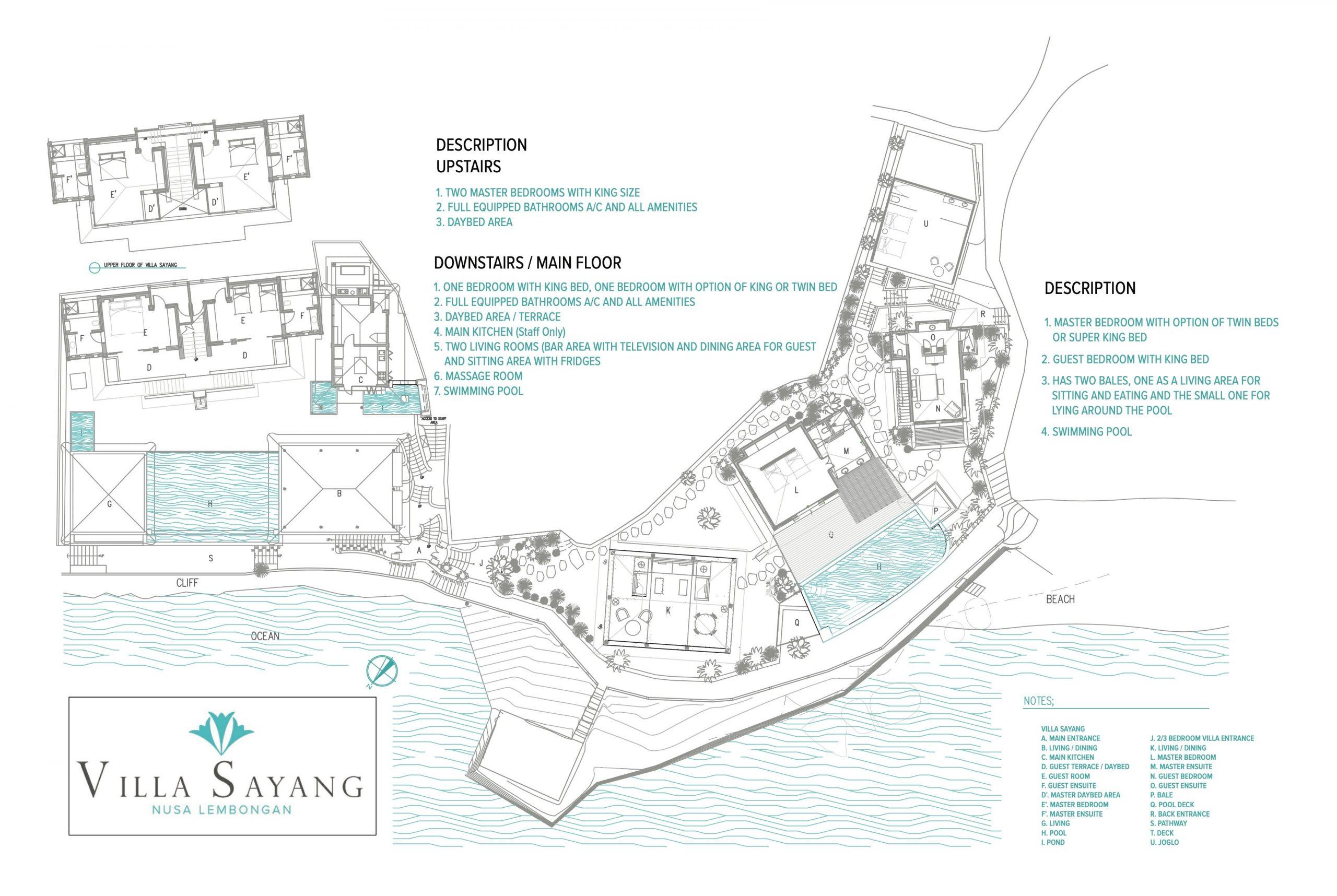 floor plan Villa Sayang